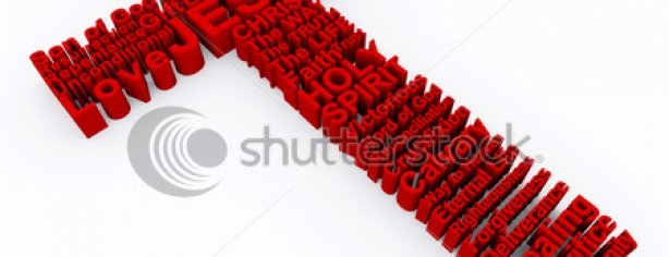 Stock Photo D Cross Made Up Of Various Words That Describe Christianity And The Cross Of Jesus Christ 54771052